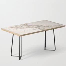 Vintage Map of North and South America (1843) Coffee Table