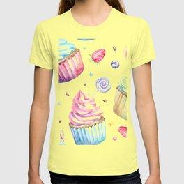 Cupcake Pattern T-shirt