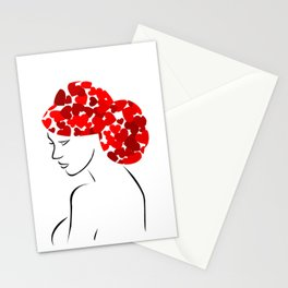 Love in my hair Stationery Cards