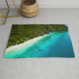 White sands and blue waters Rug