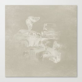 cars in secret forest Canvas Print