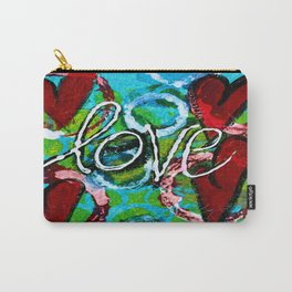 Four Hearts of Love Carry-All Pouch