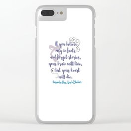 STORIES | CASSANDRA CLARE, LORD OF SHADOWS Clear iPhone Case