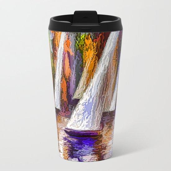 Sail Away Metal Travel Mug