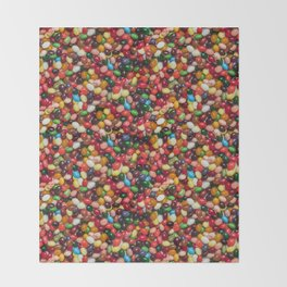 Gourmet Jelly Beans Candy Photo Pattern Throw Blanket