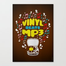 Vinyl Beats Mp3 Canvas Print