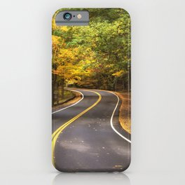Autumn Drive - Letchworth State Pasrk iPhone Case