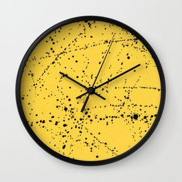 Dazed + Confused [Yellow] Wall Clock