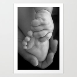 Baby Hand and Foot Art Print