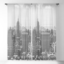 New York Skyline Sheer Curtain