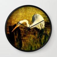 fishing Wall Clocks featuring Fishing by JMcCool