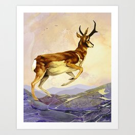 Pronghorn in the Morning Art Print