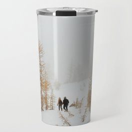 Walking in Larch Land Travel Mug
