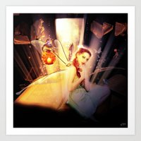 fairytale Art Prints featuring Fairytale by Emma Design Digital Arts