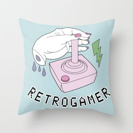 RetroGamer Throw Pillow
