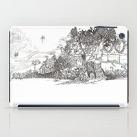 the moon iPad Cases featuring Moon by Nayoun Kim