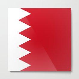 bahrain country flag Metal Print