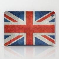 british flag iPad Cases featuring UK British Union Jack flag retro style by Bruce Stanfield
