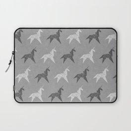 Origami Unicorn Grey Laptop Sleeve