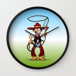 Cowboy with a lasso Wall Clock