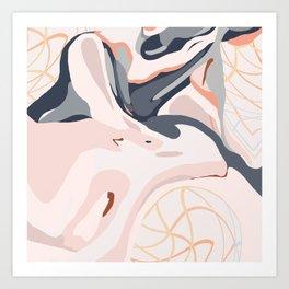 Elegant Zen Marbled Effect Design Art Print