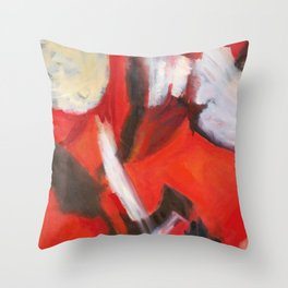 Red Sonja - Red Yellow Abstract Painting Throw Pillow