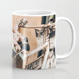 Flower Basket Vintage Bicycle Coffee Mug