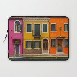The Streets of Burano Laptop Sleeve