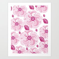 Twirly Rose Art Print