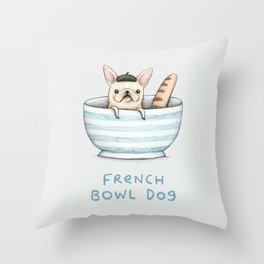 French Bowl Dog Throw Pillow
