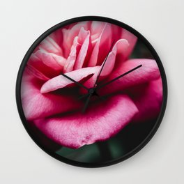 Moody Pink Rose Wall Clock
