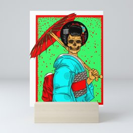 Geisha skull Mini Art Print
