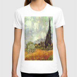 Vincent van Gogh's Wheat Field with Cypresses T-shirt