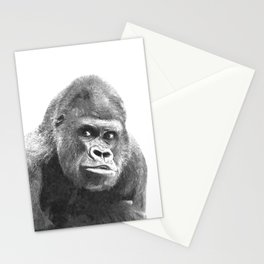 Black and White Gorilla Stationery Cards