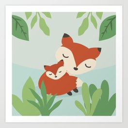 Mama Fox Art Print