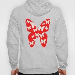French script butterflies Hoody