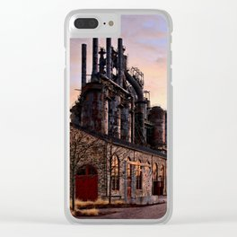 Industrial Landmark Clear iPhone Case