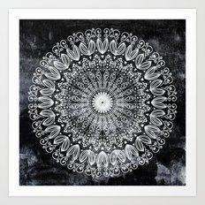 ORGANIC BOHO MANDALA Art Print