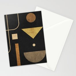 Subtle Opulence - Minimal Geometric Abstract 1 Stationery Cards