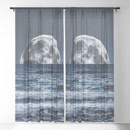 Summer Moonrise Sheer Curtain