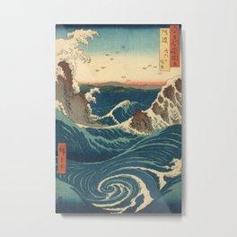 Vintage poster - Japanese Wave Metal Print