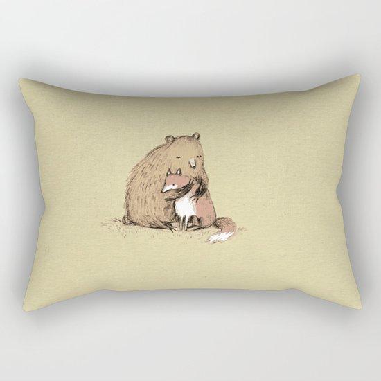 Grizzly Hugs Rectangular Pillow