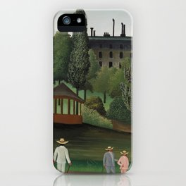 View of Montsouris Park the Kiosk iPhone Case