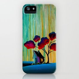 Down In The Valley - a rainy night landscape iPhone Case