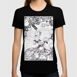 Ghibli-Inspired Collage T-shirt