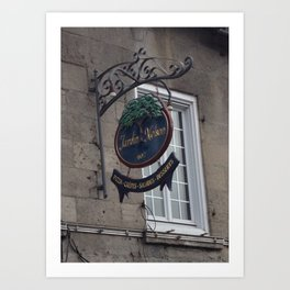 Old Montreal Sign Art Print