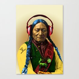 Sitting Bull is cool Canvas Print