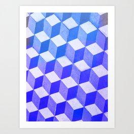 Geometric Pattern - Blue Mood Arlequin Art Print