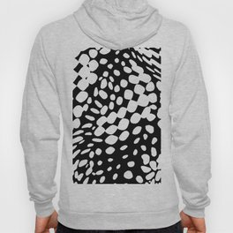 DOTS DOTS BLACK AND WHITE DOTS PATTERN Hoody