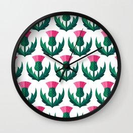 Thistle field Wall Clock